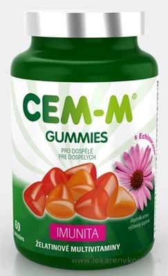 CEM-M GUMMIES IMUNITA želatinové multivitamíny s Echinaceou, pre dospelých, 1x60 ks