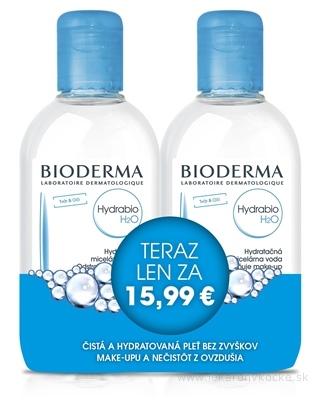 BIODERMA Hydrabio H2O FESTIVAL micelárna pleťová voda 2x250 ml (akciová cena), 1x1 set
