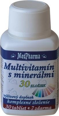 MedPharma MULTIVITAMÍN S MINERÁLMI 30 ZLOŽIEK tbl 30+7 zadarmo (37 ks)