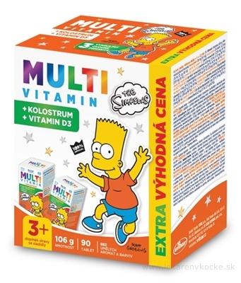 Revital MULTIVITAMÍN + KOLOSTRUM The Simpsons tbl cmúľacie (výhodná cena) 2x45 (90 ks)