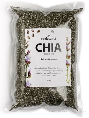 nefdesanté CHIA semienka semená Šalvie (Salvia Hispanica) 1x500 g
