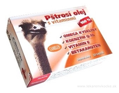 CAMELUS Pštrosí olej s vitamínmi cps 1x30 ks