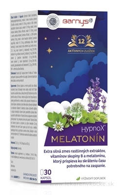 BARNY´S HypnoX MELATONÍN kapsuly 1x30 ks