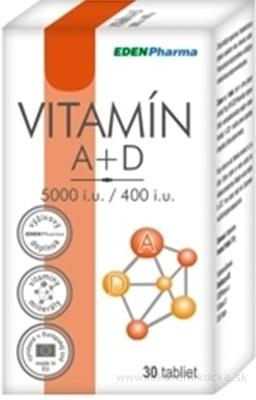 EDENPharma VITAMÍN A + D 5000 I.U./ 400 I.U. tbl 1x30 ks