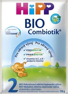 HiPP 2 BIO Combiotik (1 porcia) pokračovacia mliečna dojč. výživa (od ukonč.6. mesiaca) (10275) 1x28 g