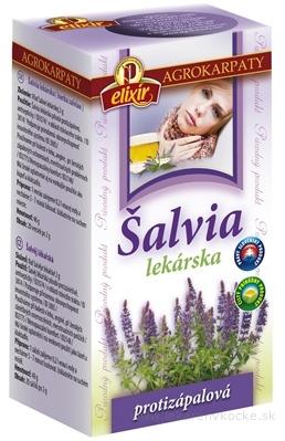 AGROKARPATY ŠALVIA LEKÁRSKA čaj, čistý prírodný produkt, 20x2 g (40 g)