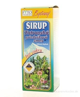FYTO Tatranská priedušková zmes SIRUP bez cukru bylinný 1x100 ml