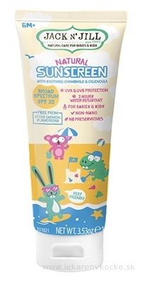 JACK N´JILL Natural Sunscreen prírodný opaľovací krém SPF 30, 1x100 g