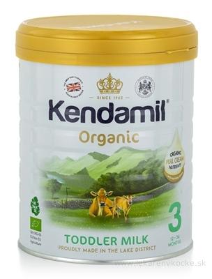 KENDAMIL 3 Organic, BIO batoľacie mlieko, s DHA (12 - 36 mesiacov) 1x800 g