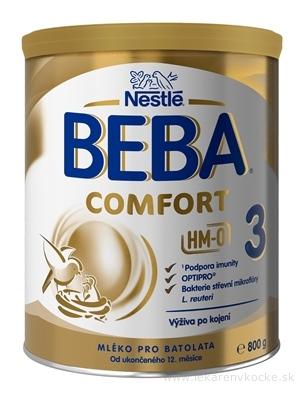 BEBA COMFORT 3 HM-O mliečna výživa pre batoľatá (od ukonč. 12 mesiacov) 1x800 g