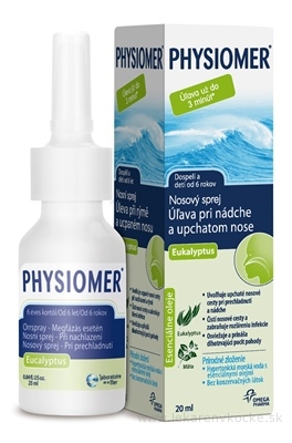 PHYSIOMER Nosový sprej Eukalyptus spr 1x20 ml