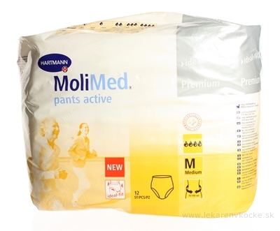 MOLIMED PANTS ACTIVE MEDIUM vložky absorpčné 1x12 ks