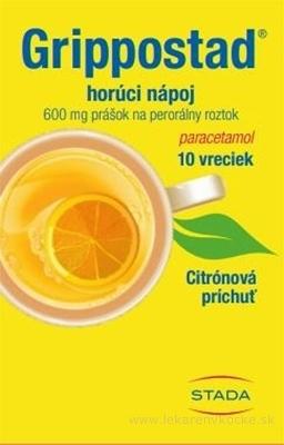 Grippostad horúci nápoj plo por 600 mg (vre.PAP/Al/LDPE) 1x10 ks