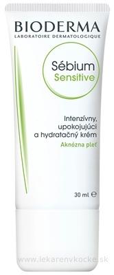 BIODERMA Sébium Sensitive (AKCIA) intenzívny krém, aknózna pleť 1x30 ml
