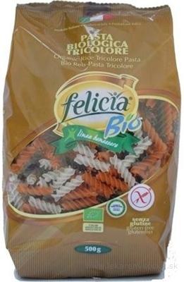 BIO ryžové cestoviny Felicia FUSILLI TRICOLORE 1x500 g