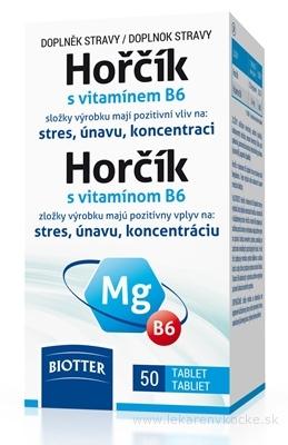 Biotter Horčík s vitamínom B6 tbl 1x50 ks