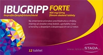 IBUGRIPP FORTE tbl flm 400 mg/10 mg (blis.PVC/PE/PVDC/Al) 1x12 ks