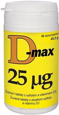 Vitabalans D-max 25 µg žuvacie tablety 1x90 ks