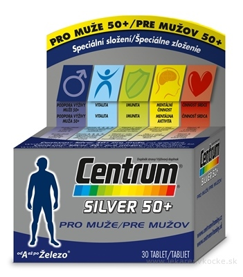 Centrum Silver 50+ pre mužov tbl 1x30 ks