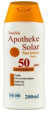 JutaVit Apotheke Solar Sun lotion 50 SPF opaľovacie mlieko 1x200 ml