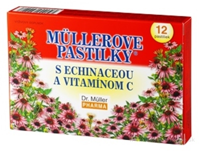 MÜLLEROVE PASTILKY S ECHINACEOU A VIT. C (imunita) 1x12 ks