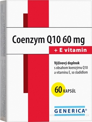 GENERICA Coenzym Q10 60 mg + E vitamin cps 1x60 ks