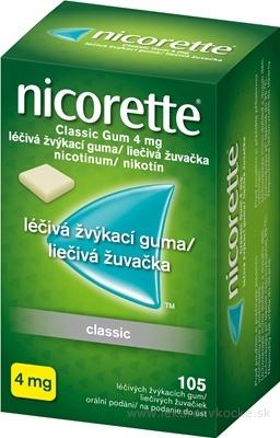 Nicorette Classic Gum 4 mg gum med (blis. PVC/PVDC/Al) 1x105 ks