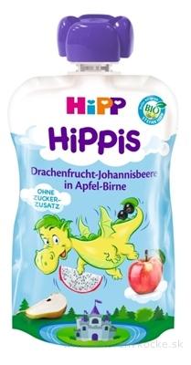 HiPP HiPPis BIO Jablko Hruška Dračie ovoc. Ríbezle kapsička (od 1.roku) ovocný príkrm 1x100 g