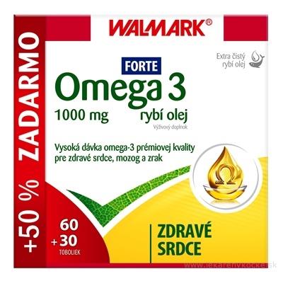 WALMARK Omega 3 rybí olej FORTE cps 60+30 ks zadarmo (90 ks)