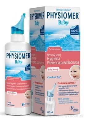 PHYSIOMER BABY nosový sprej izotonický, s obsahom morskej vody 1x115 ml