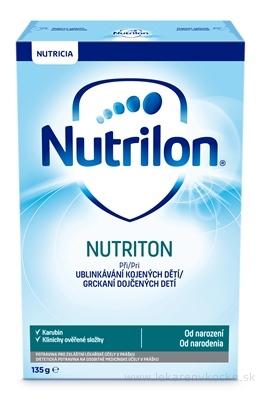 Nutrilon 1 NUTRITON (od narodenia) prídavok do mat. mlieka pri grckaní kojených detí, 1x135 g