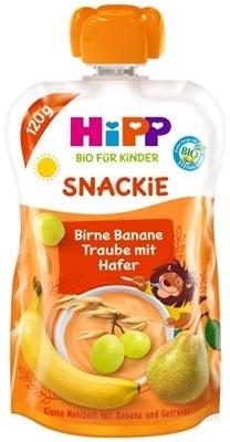 HiPP BIO KINDER Hruška Banán Biele hrozno Ovos kapsička (od 1. roku) ovocno-obilný príkrm 1x120 g