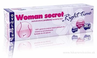 Woman secret RIGHT TIME ovulačný test prúžkový 20v1 (20 prúžkov) 1x20 ks