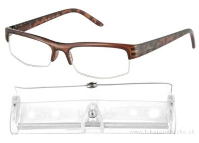 American Way okuliare na čítanie hnedé, +3,00 1x1 ks