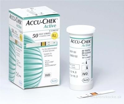 ACCU-CHEK Active Glucose 50 testovacie prúžky do glukomera 1x50 ks