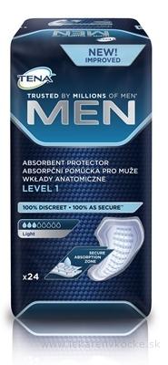 TENA MEN LEVEL 1 absorpčné vložky pre mužov, Light, 1x24 ks