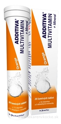 ADDITIVA MULTIVITAMÍN + Minerál, Orange tbl eff 1x20 ks