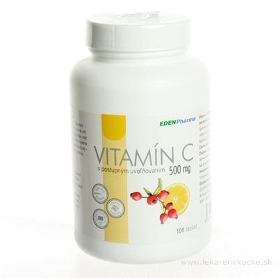 EDENPharma VITAMÍN C 500 mg tbl s postupným uvoľňovaním 1x100 ks