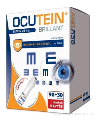 OCUTEIN BRILLANT Luteín 25 mg - DA VINCI cps 90+30 navyše (120 ks) + Darček, 1x1 set
