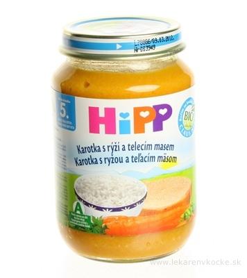 HiPP Príkrm Mrkva s ryžou a teľacím mäsom Baby menu (od ukonč. 5. mesiaca) 1x190 g
