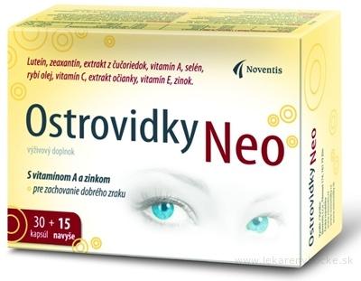 Noventis Ostrovidky Neo - AKCIA cps 30 + 15  navyše (45 ks)