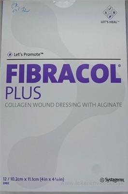 FIBRACOL PLUS kolagénový obväz s alginátom (10,2 cm x 11,1 cm) 1x12 ks