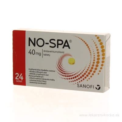 NO-SPA 40 mg tbl (blis.PVC/Al) 1x24 ks