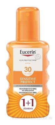 Eucerin SUN SENSITIVE PROTECT SPF 30 sprej transparentný na opaľovanie 2x200 ml (1+1 zdarma), 1x1 set