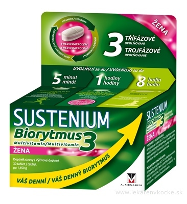 SUSTENIUM Biorytmus 3 multivitamín ŽENA tbl 1x30 ks