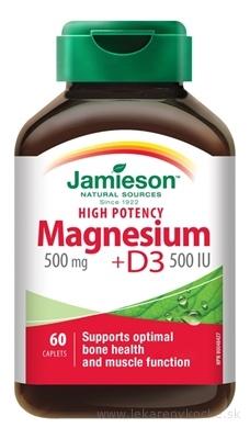 JAMIESON HORČÍK 500 mg S VITAMÍNOM D3 500 IU tbl 1x60 ks