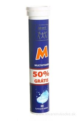 Zdrovit MULTIVITAMIN 50% grátis tbl eff (šumivé tablety) 1x20 ks