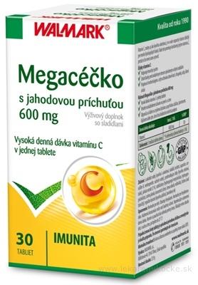 WALMARK MEGACÉČKO tbl (s jahodovou príchuťou, vitamín C 600 mg) 1x30 ks