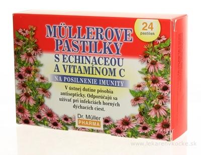 MÜLLEROVE PASTILKY S ECHINACEOU A VIT. C (imunita) 1x24 ks