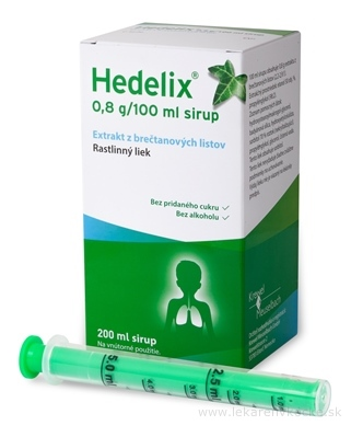 Hedelix sir (fľ.skl.jantár.+dávkov.striek.) 1x200 ml